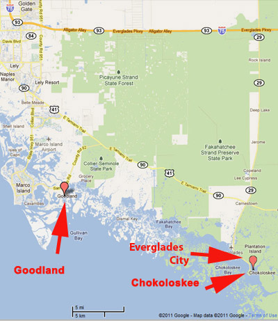 Everglades Area Tours  Map and Directions